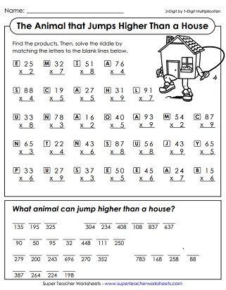 Multiplication Worksheets  Nd Grade Math