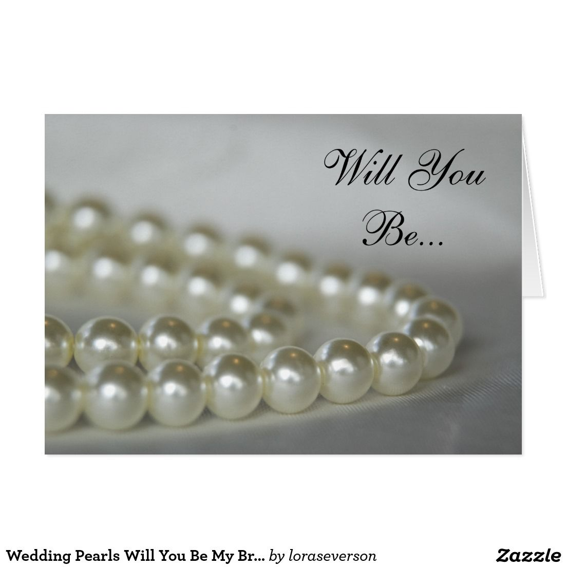 how early should you send out wedding shower invitations%0A Wedding Pearls Will You Be My Bridesmaid