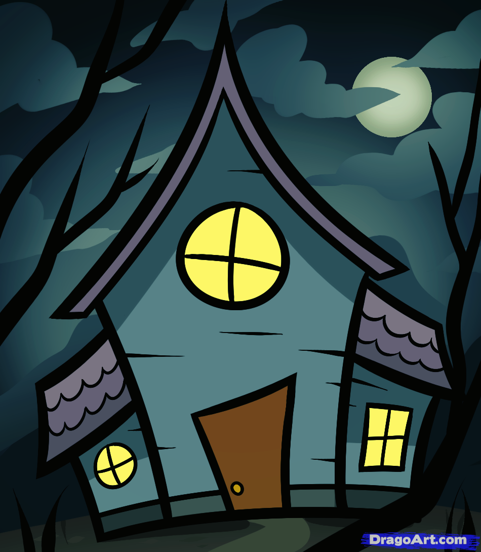 how to draw a haunted house for kids Haunted house for kids