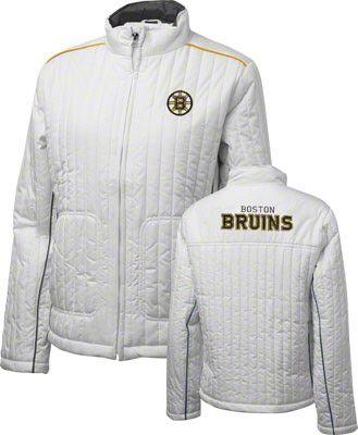 b2448158 Boston Bruins Women's Bombshell White Full-Zip Jacket | Rep the best ...