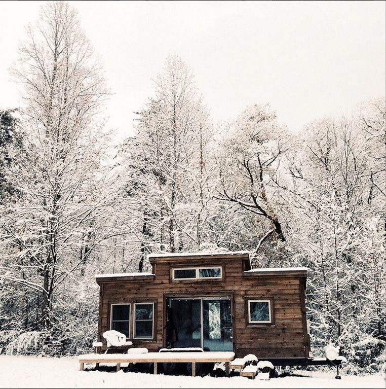 """""""Winter is here, and I am warmer and more comfortable in this little house than I could have imagined.""""  –  Natalie at Hello Tiny Home"""