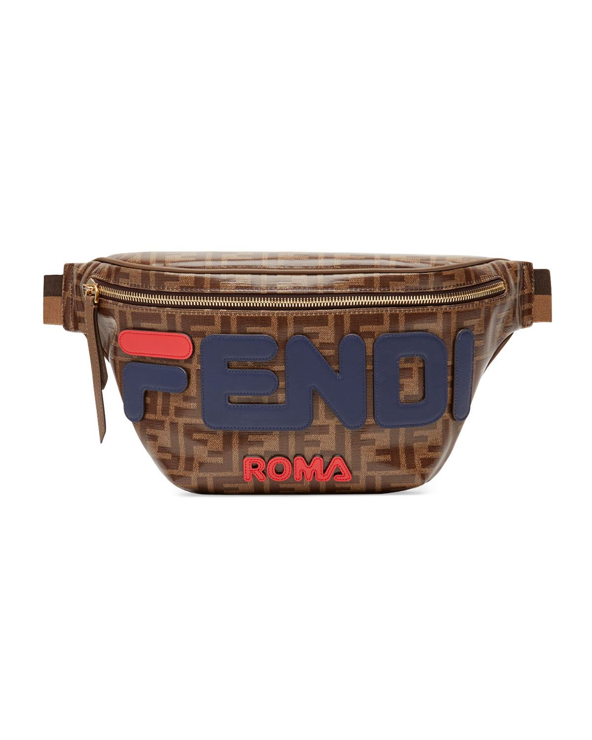 47c66a52408c FENDI MEN'S FENDI MANIA COATED CANVAS BELT BAG/FANNY PACK. #fendi #bags