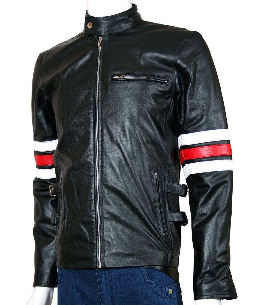 Men's Black Lightweight Leather Jacket | Cafe Racer Leather ...