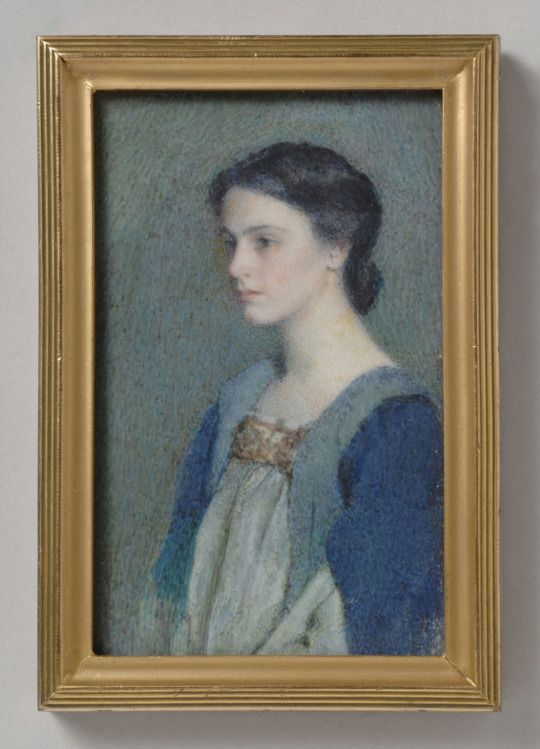 Alice Beckington, Self-Portrait, Study in Blues and Greens, c.1900.