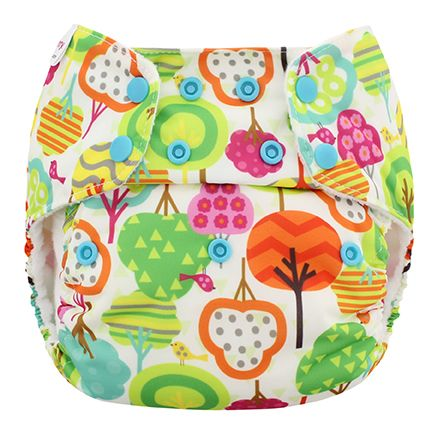One Size Simplex All In One Diaper w/ Organic Cotton all in one plus a hybrid. self agitates