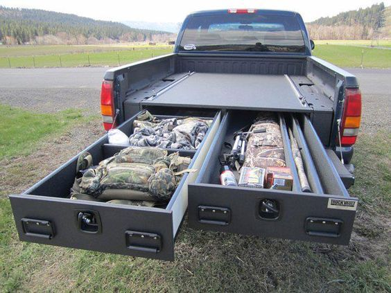 How To Install A Diy Truck Bed Storage System Truck Bed Storage Truck Bed Truck Storage