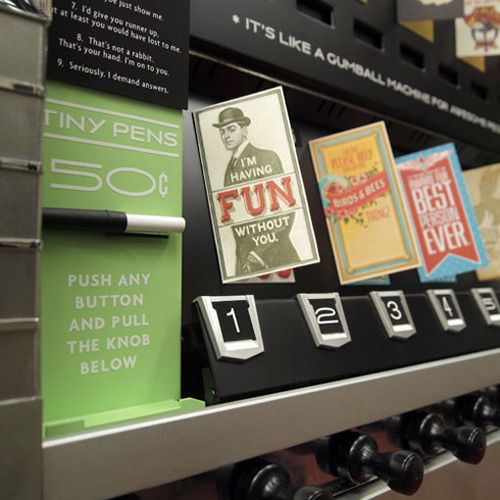 Vending Machine Dispenses Greeting Cards For Awesome People