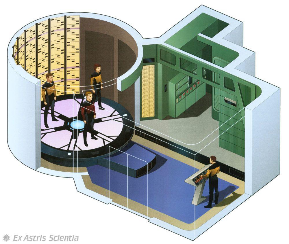 Transporter room USS Enterprise NCC1701 D Star Trek Bridge
