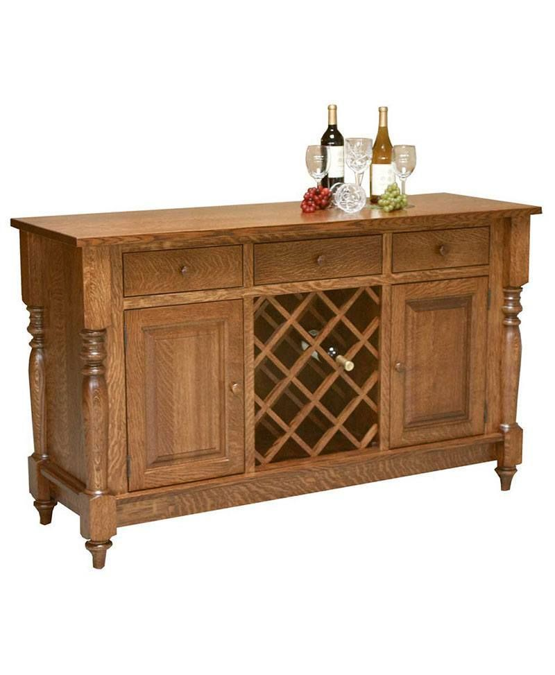 harvest buffet with wine rack amish buffets sideboards rh pinterest com