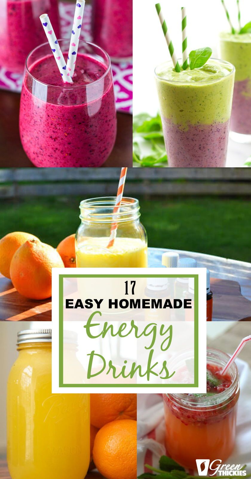 Here Are 17 Of The Best Healthy Homemade Energy Drinks To Help You Boost Your Energy And You Homemade Energy Drink Energy Drink Recipe Healthy Energy Smoothies