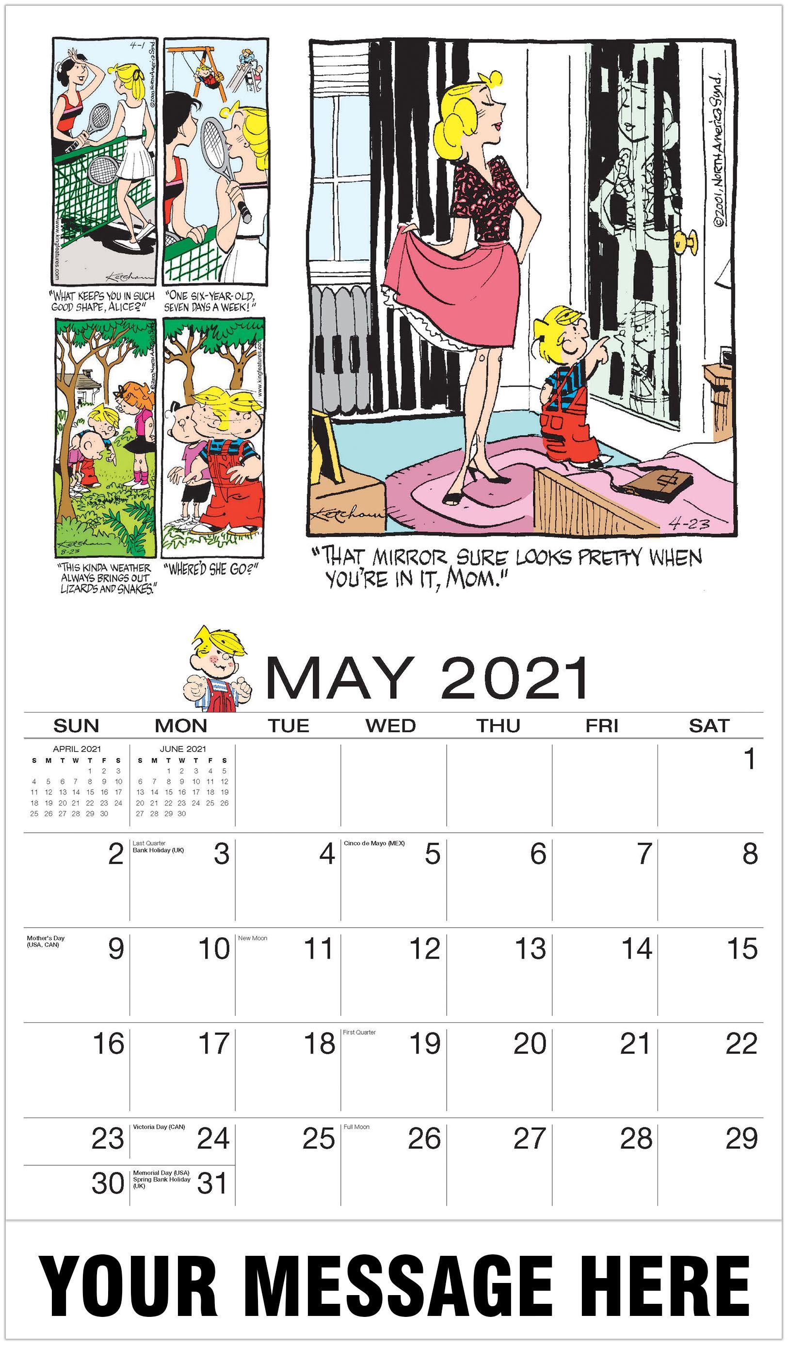 Dennis The Menace In 2020 Dennis The Menace Art Calendar Promotional Calendar