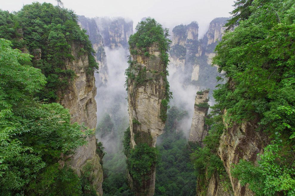 zhangjiajie national forest park in china zhangjiajie national forest park in china
