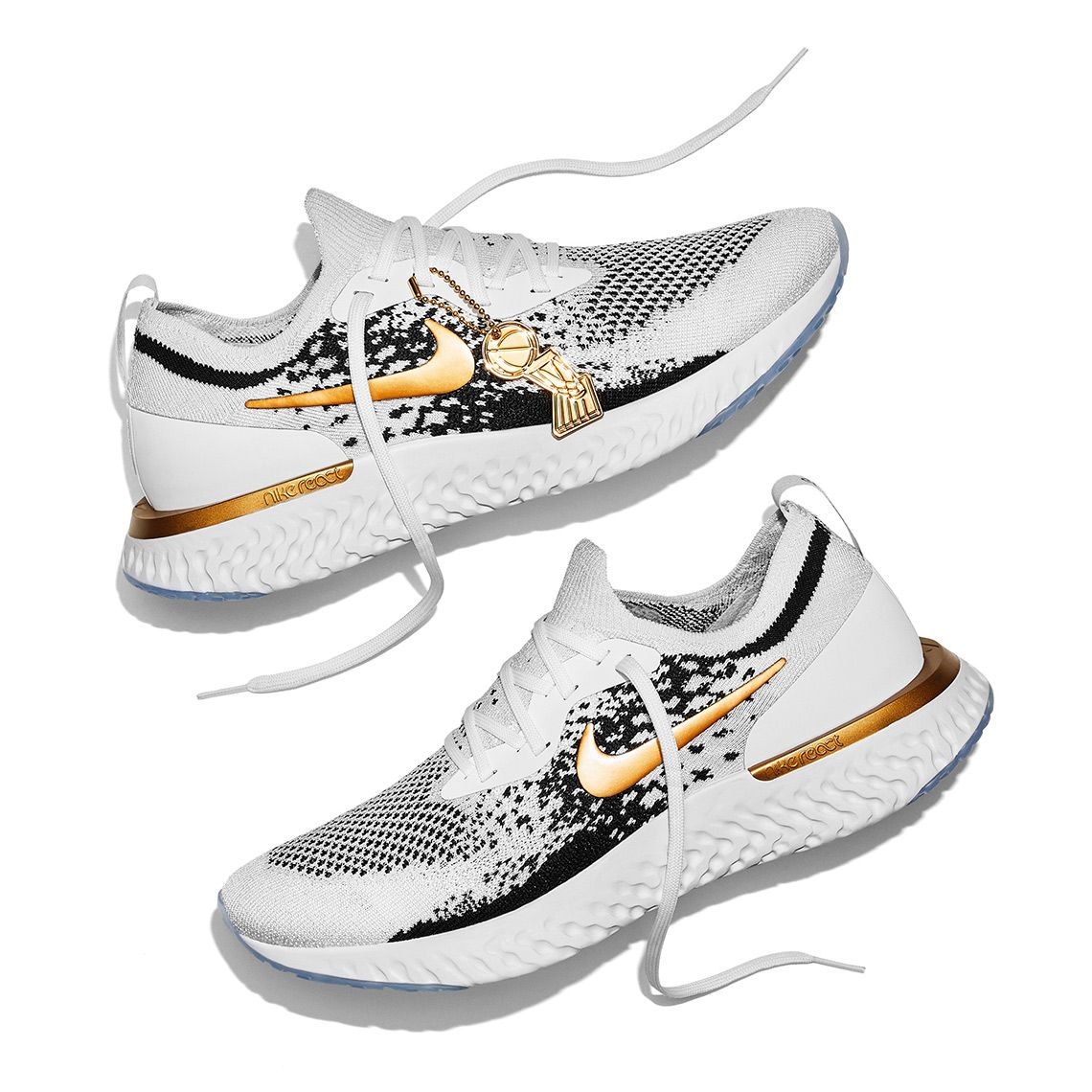 42978519c41c0 Nike Epic React Flyknit NBA Champions Golden State Warriors PE ...