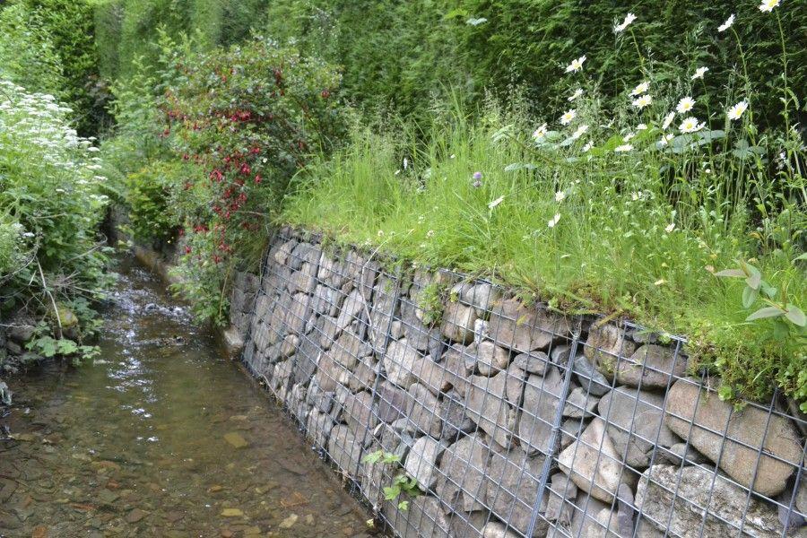 Church Stretton Stone Walls Garden Landscaping Retaining Walls Gabion Retaining Wall
