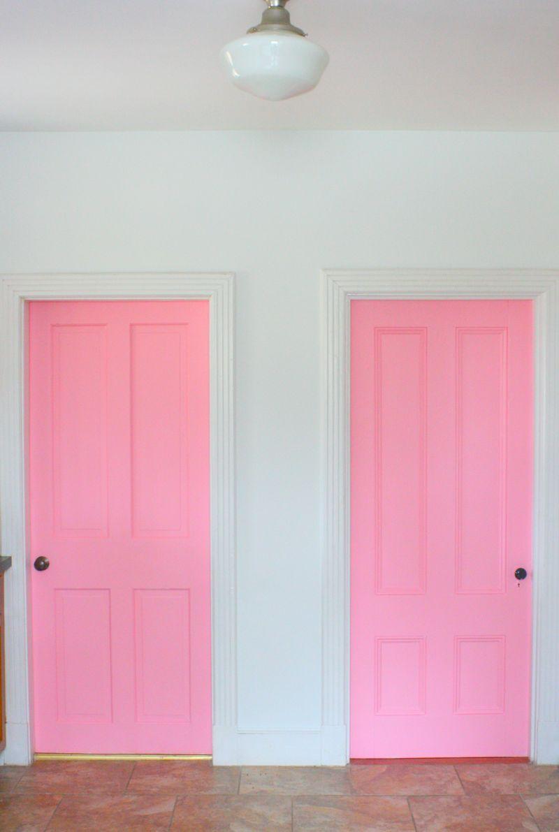 Kitchenafter6 Pink Kitchen Doors Pinterest