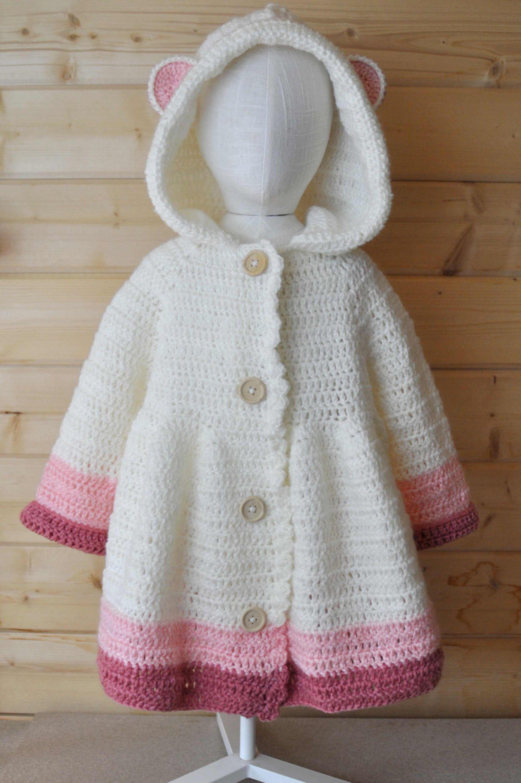 Manteau, veste, manteau long, manteau à capuche, crochet, laine oeko ...
