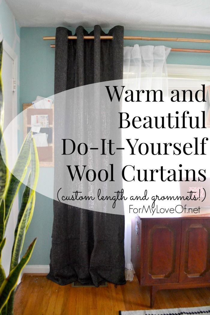 Warm And Beautiful Do It Yourself Wool Curtains With Custom Length Grommets