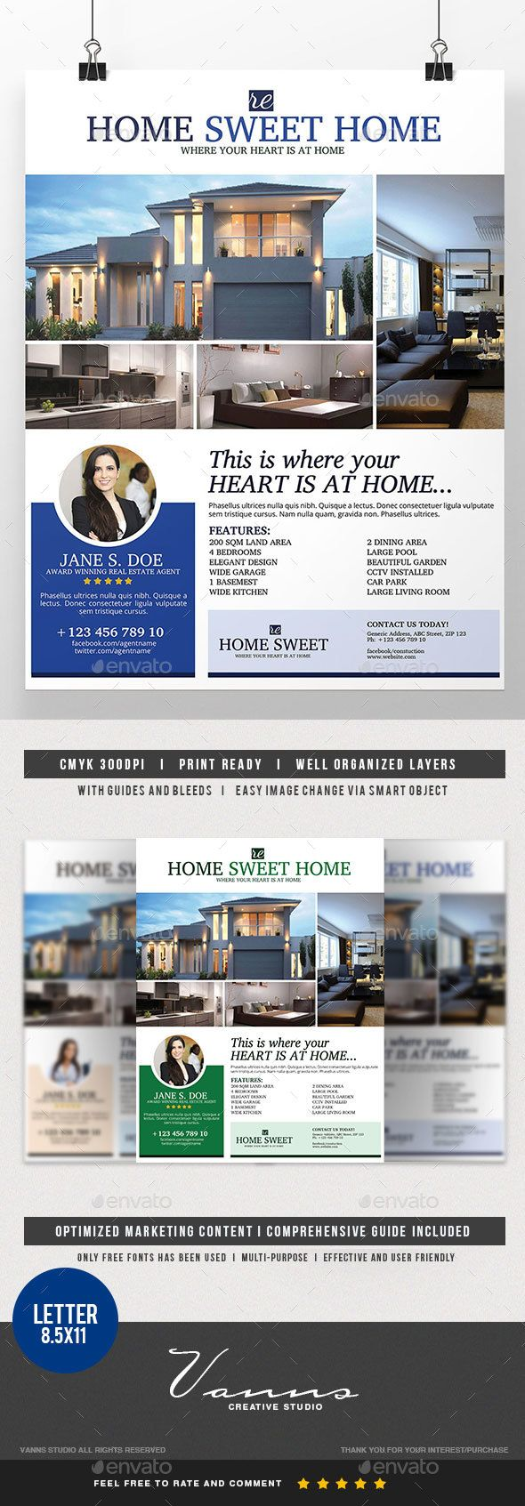 Real Estate Template%0A Real Estate Flyer Template
