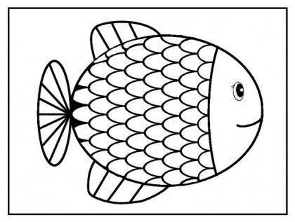 imprimer et decouper carte avec un poisson avril rigolo s