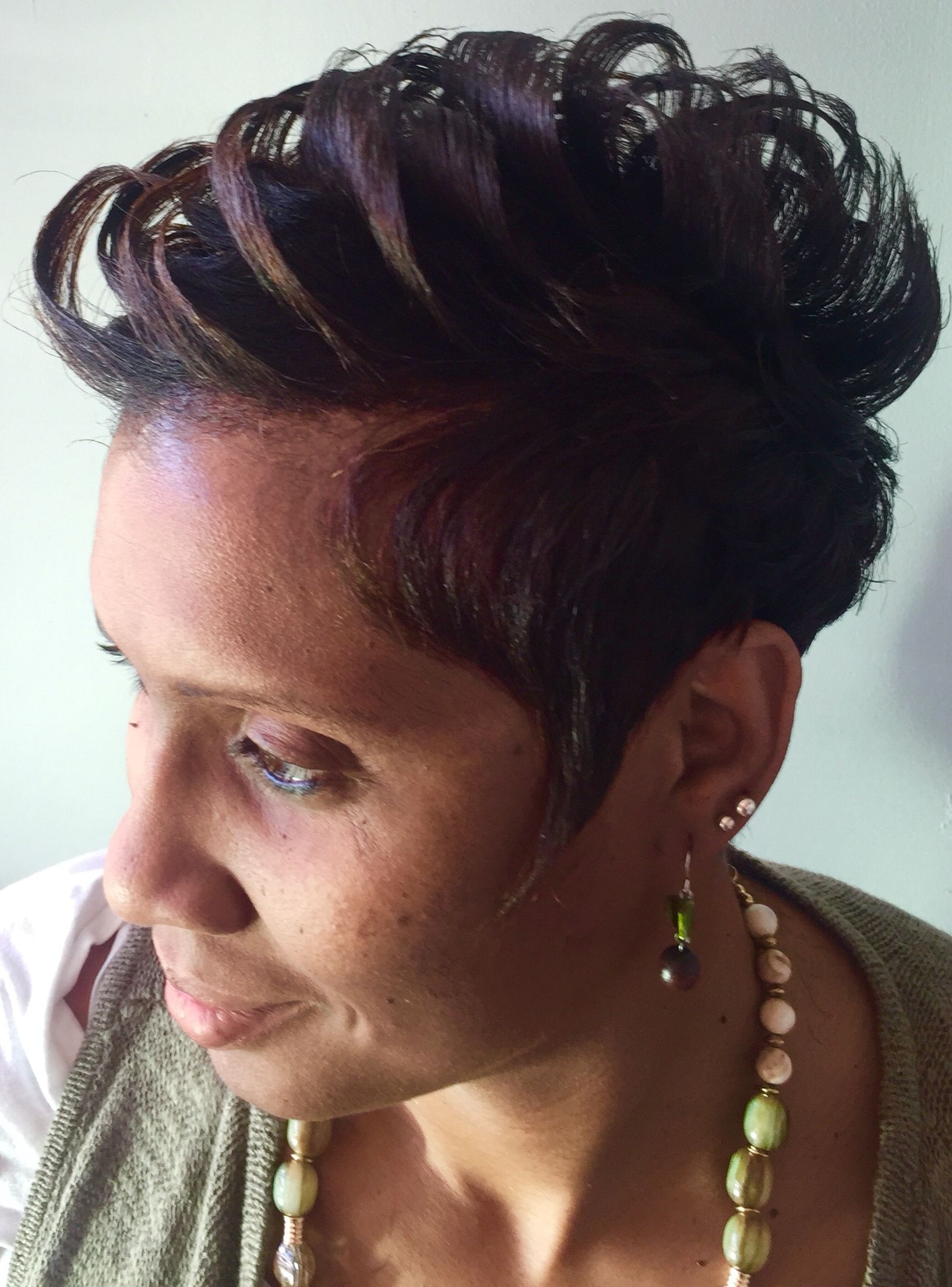 Pompadour Haircut by Lisa B Hernandez Atlanta Conyers Tucker Ga