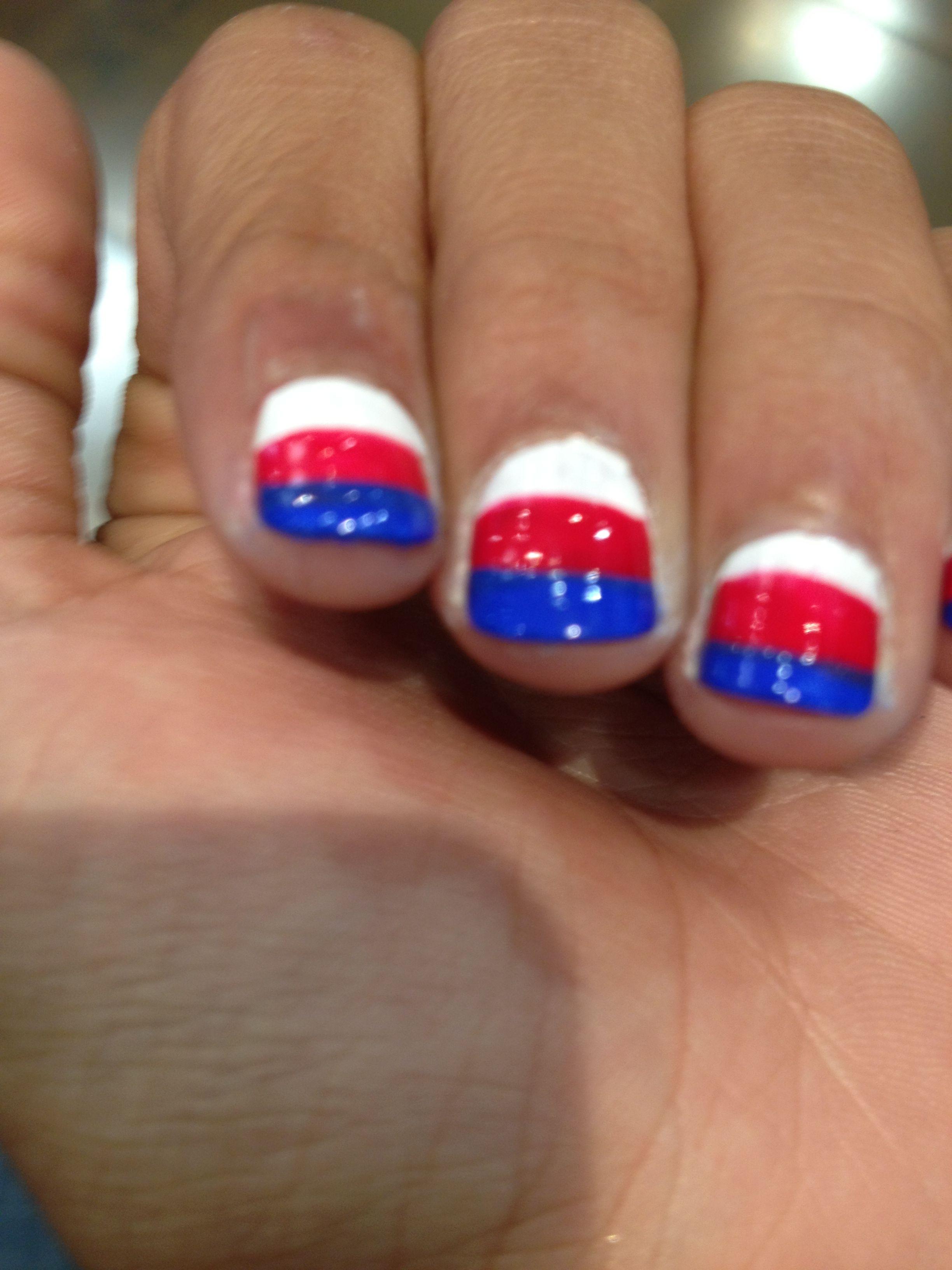 russia flag nail polish | manic panic | Pinterest | Flag nails