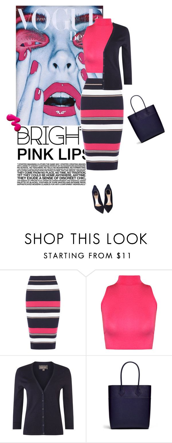 """bright pink lips"" by divacrafts ❤ liked on Polyvore featuring Wildfox, Oasis, WearAll, Phase Eight, Rebecca Minkoff, Christian Dior and Original"