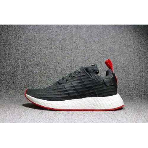size 40 58307 a54d8 Kjøp Adidas NMD R2 - 2017 Adidas NMD R2 Primeknit Core Black Core Rød Til  Herre Og Dame Sko