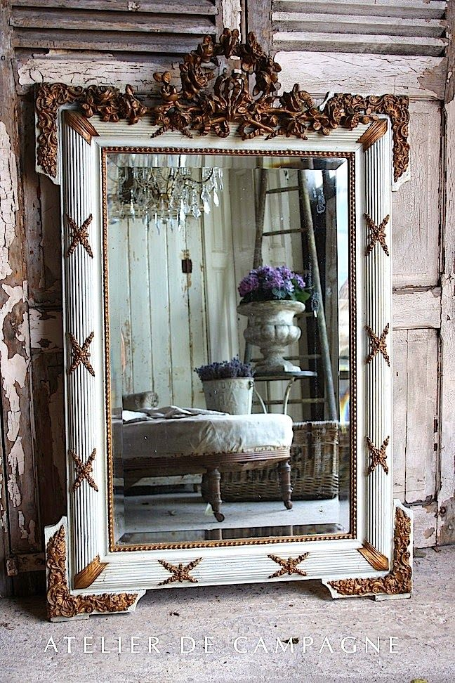 french country cottage collecting mirrors interior accessories rh pinterest com