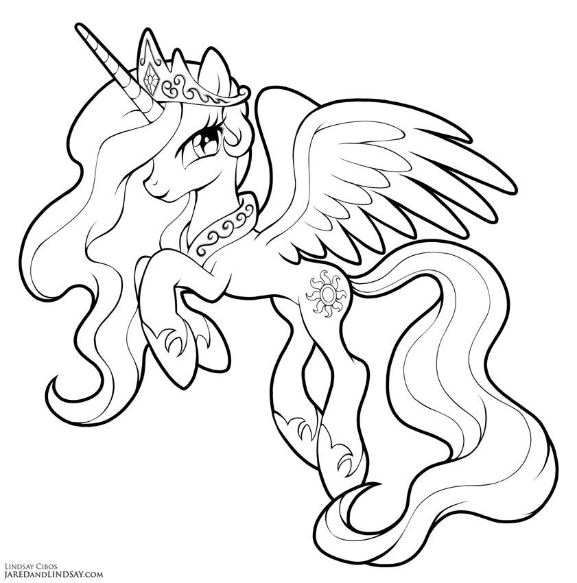 Princess Celestia By Lcibos Coloring Fun My Little Pony Coloring
