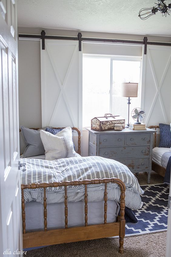 navy and ticking boys room bedrooms farmhouse window treatments rh pinterest co uk