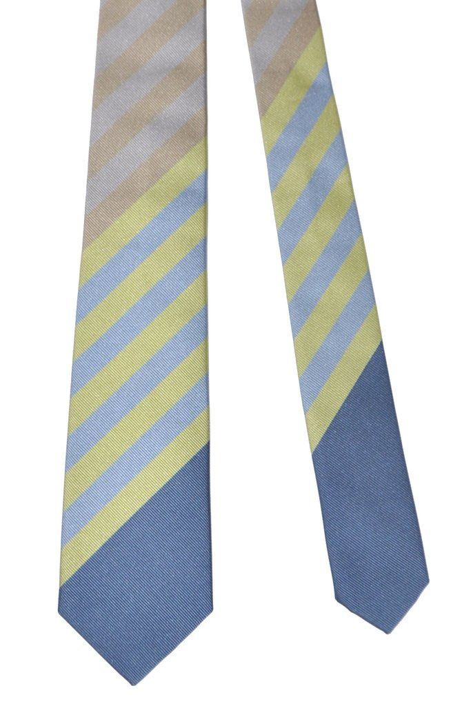 a52833893154 Gene Meyer Tie Gray Lime Charcoal Stripes | Ties | Tie, Stripes, Lime