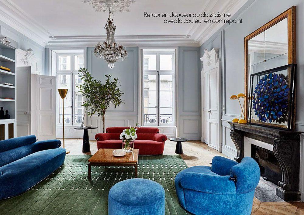 Gorgeous Eclectic Apartment In 17th Century Building In Paris