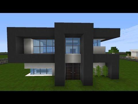 Minecraft modernes Haus Mittwoch - grau/weiß bauen - Tutorial ...