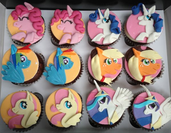 My Little Pony Happy Birthday Coloring Pages : My little pony cupcakes party ideas pony cake and