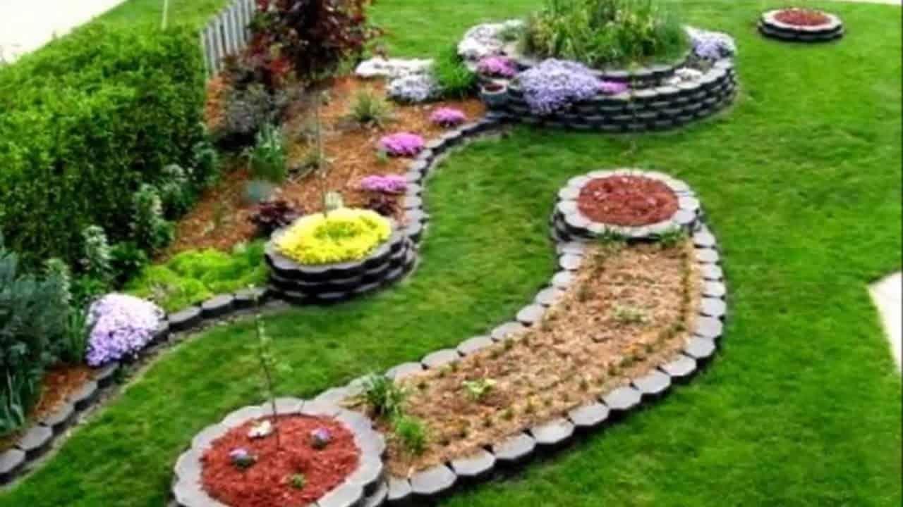 Diy modern landscaping ideas sloped backyard modern