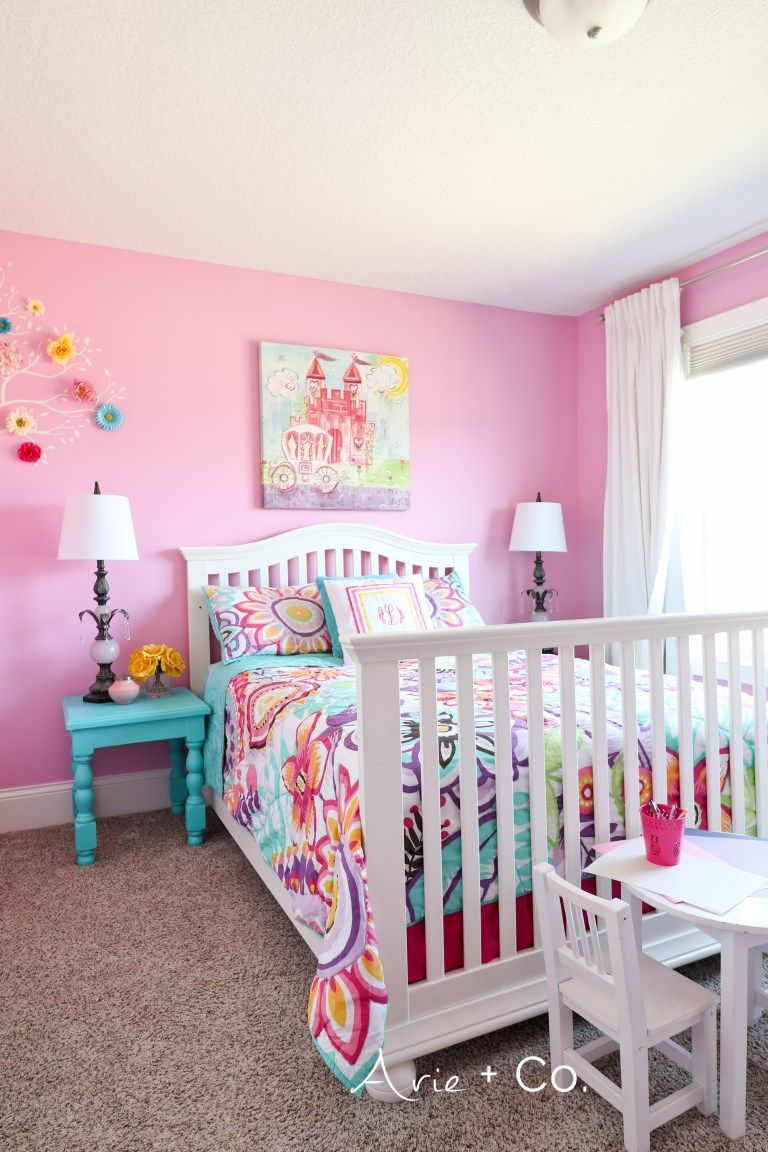arabella s colorful little girl room girls rooms girls bedroom rh pinterest com