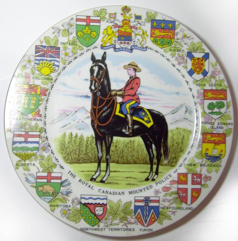 RCMP Canadian Provinces Plate 1950 RCMP