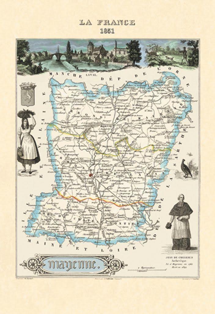 Mayenne - La France 1851, by Par M. Vuillemin