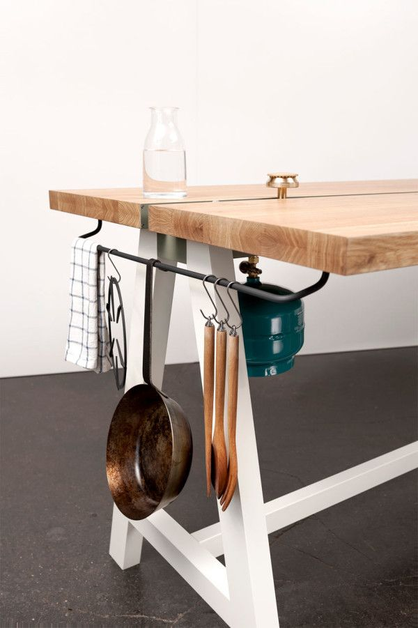 A Multipurpose Table You Can Prep Cook And Eat At Design Milk