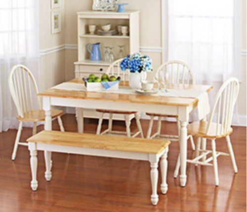 White Dining Room Set With Benchthis Country Style Dining Table Simple White Dining Room Table Set Design Ideas