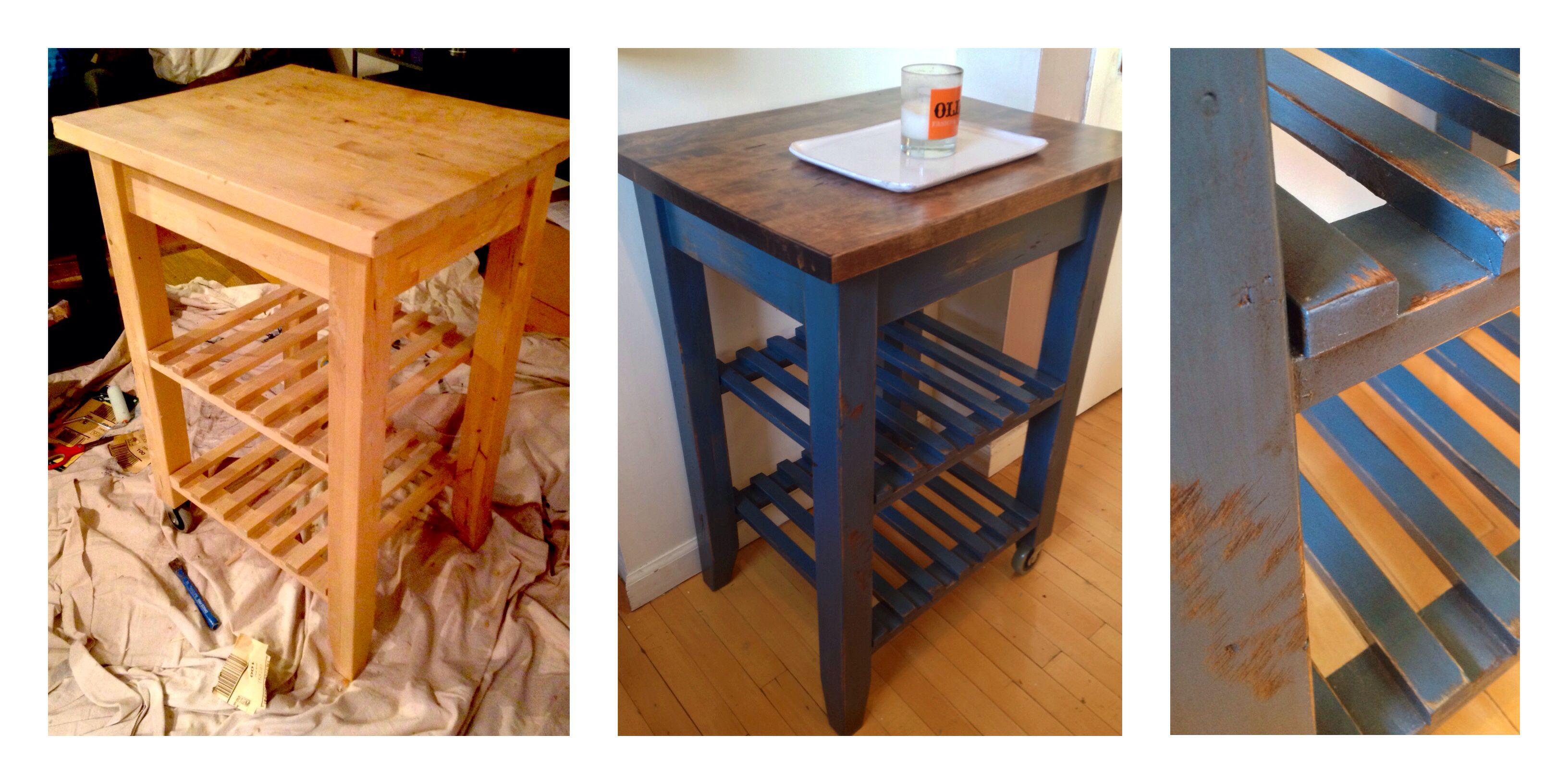 Bekvam kitchen cart Marble Top Gave My Plain Old Ikea BekvÄm Kitchen Cart Makeoverjust Little Sanding Painting Staining And Polyurethane And Bam Pinterest Gave My Plain Old Ikea BekvÄm Kitchen Cart Makeoverjust