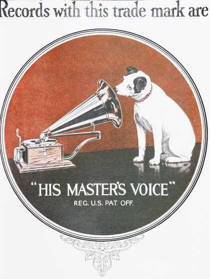 The Original Hmv Logo Retro And Vintage 1920s Advertisements