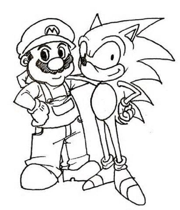 Mario und Sonic Ausmalbilder 01  ausmalbilder  Pinterest
