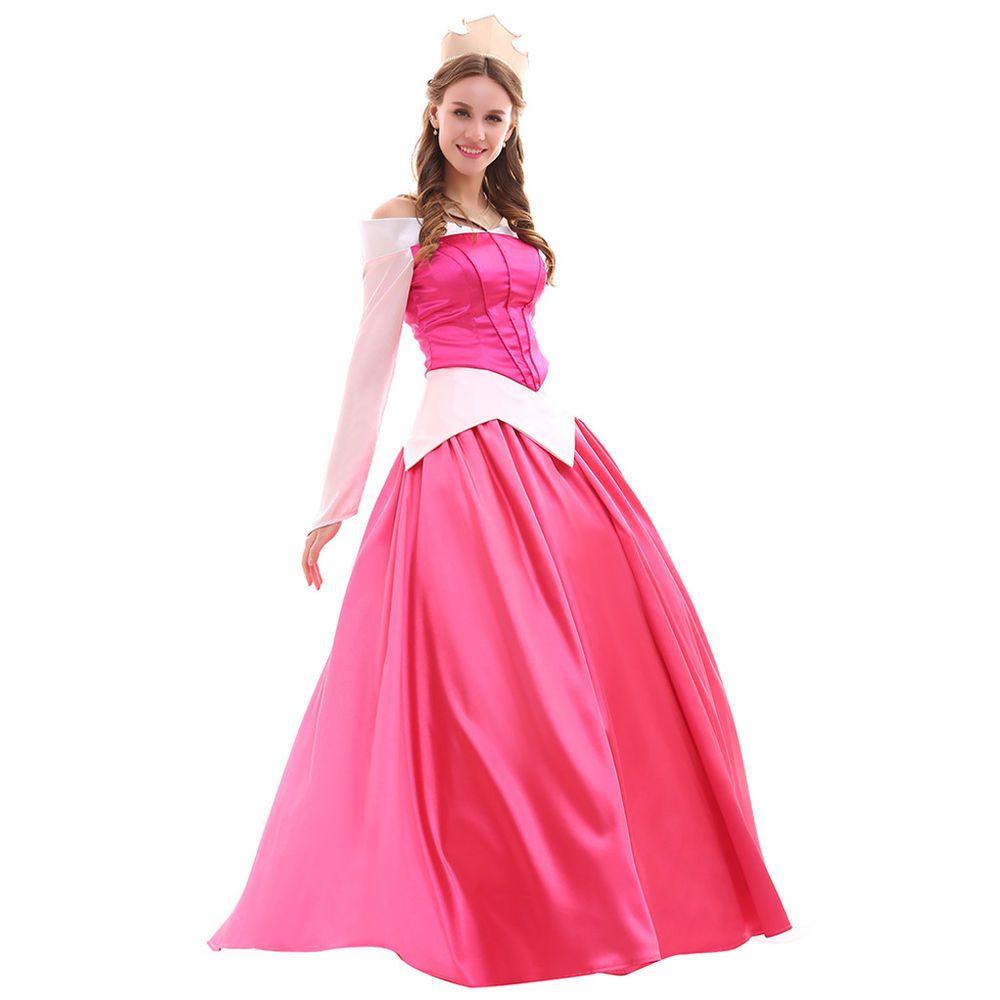 Sleeping Beauty Aurora Princess Dress Halloween Cosplay Costume Top ...