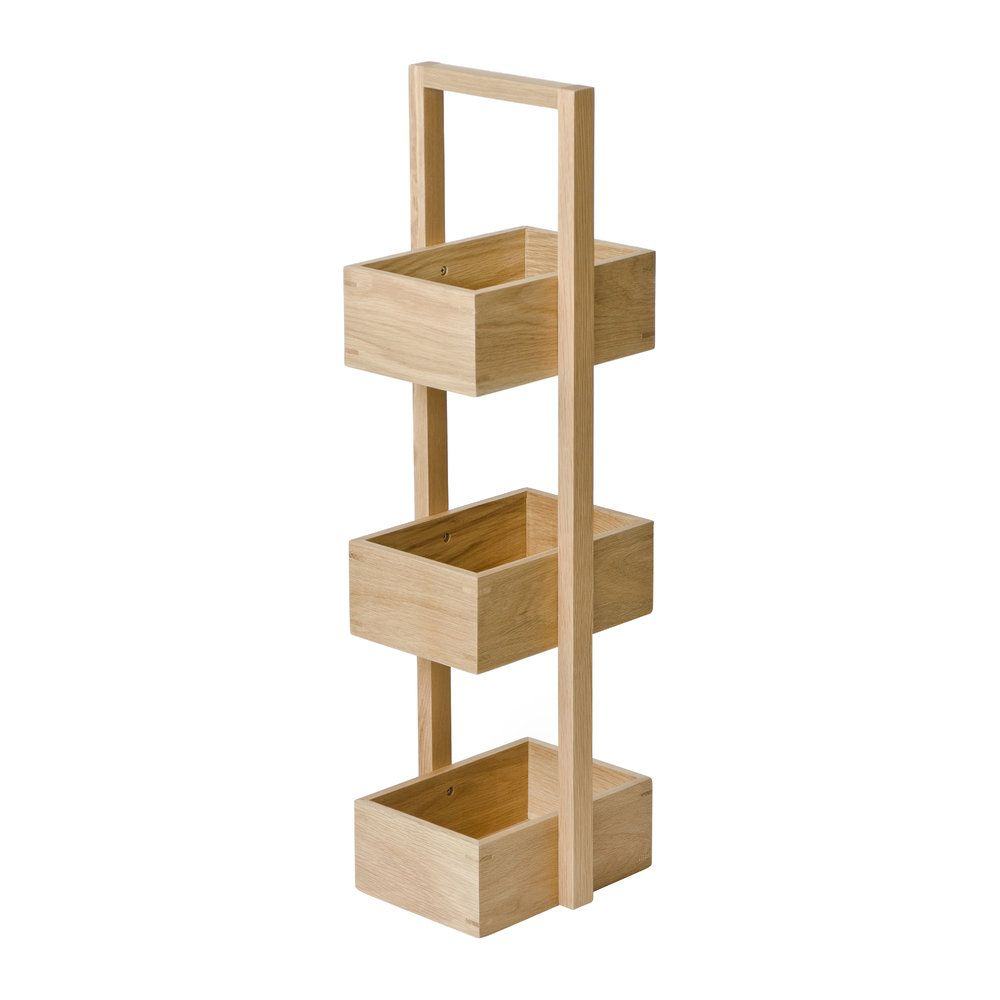 Buy Wireworks 3 Tier Bathroom Caddy - Oak | AMARA in 2020 ...