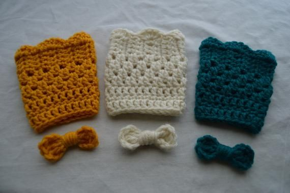 Girls Boot Cuffs Set of 3 Pairs- Made To Order- Mustard, Cream, Teal #bootcuffs