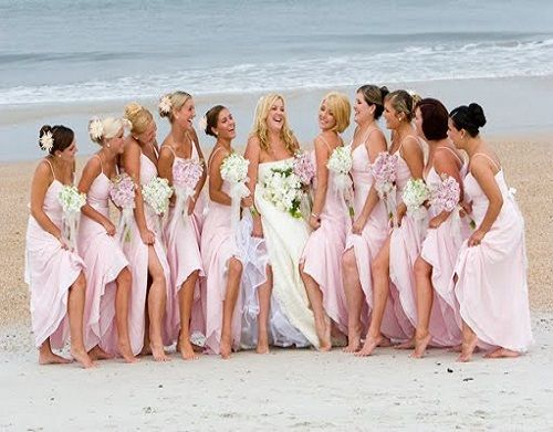 Pink #beach wedding bridesmaid dresses ... Wedding ideas for ...