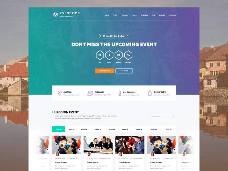 Event Website Design Event Planner Website Event Website Event Planning Website
