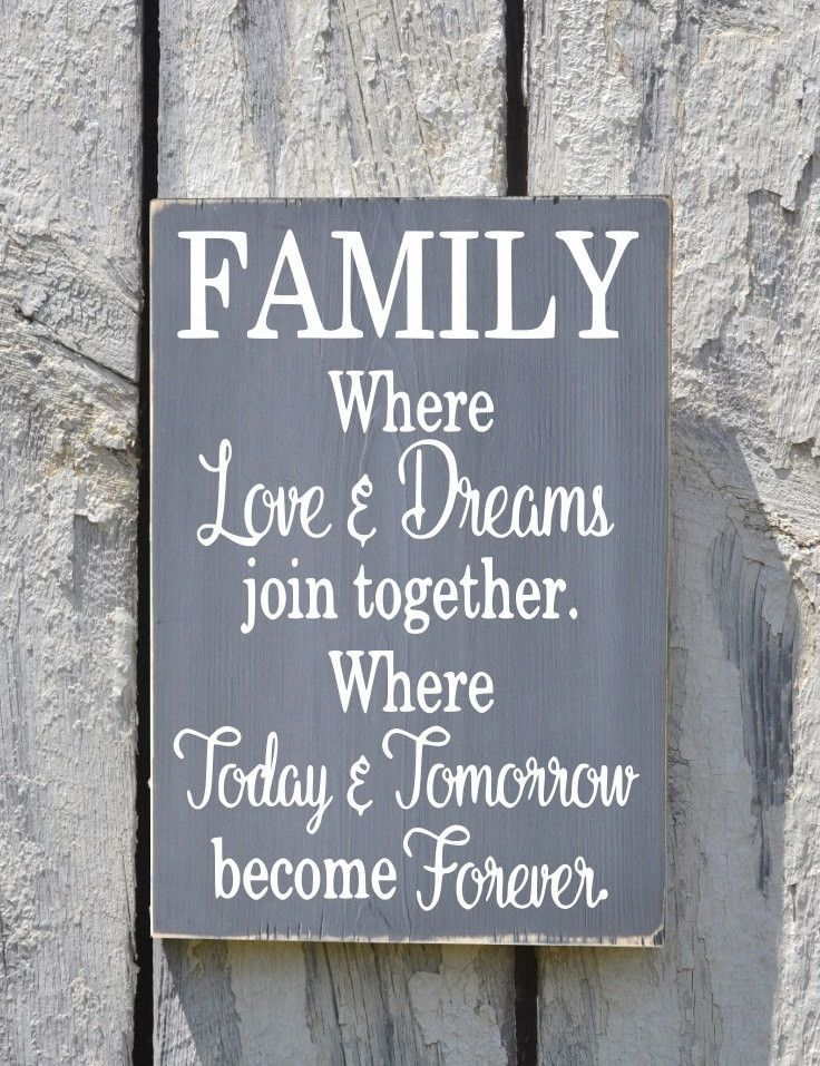 Family Sign Custom Home Decor Signs Reclaimed