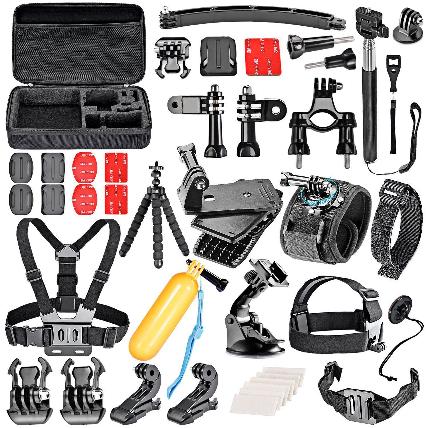 Neewer Sport Accessory Kit for GoPro Session 2 3 4 5000 6000 7000 Xiaomi Yi in Swimming Rowing Skiing Climbing Bike Riding Camping Diving and Other Outdoor